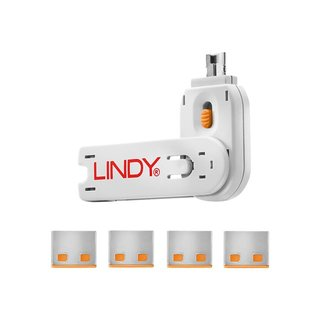 Lindy USB Port Blocker - USB-Portblocker (Packung mit 4)